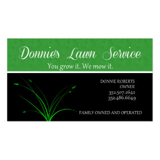 Servicio del césped de Donnie Plantillas De Tarjetas Personales
