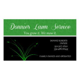 Servicio del césped de Donnie Plantillas De Tarjeta De Negocio
