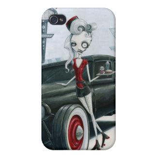 Servicio del coche en el autocinema de la hamburgu iPhone 4 fundas
