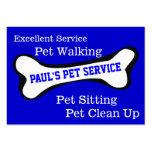 Servicio del mascota del perro plantilla de tarjeta de negocio
