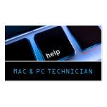 Servicio del ordenador portátil del mac del plantillas de tarjetas personales