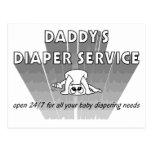 Servicio del pañal del papá postal