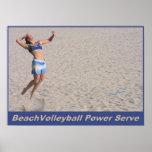 Servicio del poder de BeachVolleyball Póster
