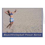 Servicio del poder del voleibol de playa tarjetas