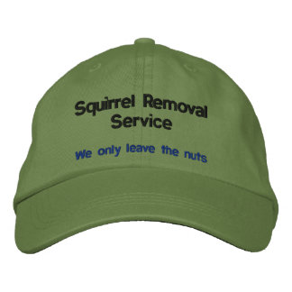 Servicio del retiro de la ardilla gorras bordadas