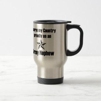 Servicio del sobrino del ejército orgulloso taza de café