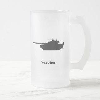 Servicio del tanque taza cristal mate