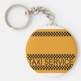 Servicio del taxi con el espacio para el texto llavero personalizado
