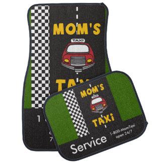 Servicio del taxi de la mamá alfombrilla de auto