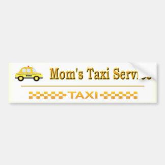 Servicio del taxi de la mamá pegatina para coche