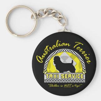 Servicio del taxi de Terrier australiano Llaveros