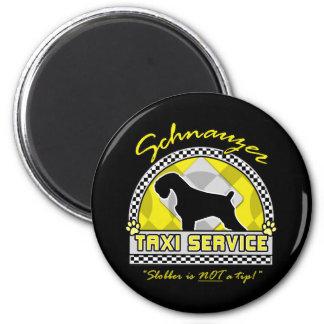 Servicio del taxi del Schnauzer Imanes