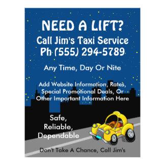 Servicio del taxi flyer personalizado