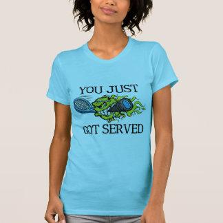 Servicio del tenis camisetas