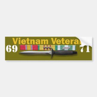 Servicio del veterano de Vietnam - pegatina para e Pegatina De Parachoque