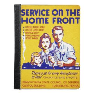 Servicio del vintage en el poster de WPA de la