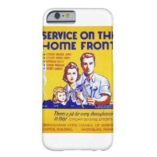 Servicio del vintage en el poster de WPA del Funda De iPhone 6 Barely There