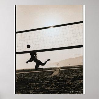 Servicio del voleibol póster