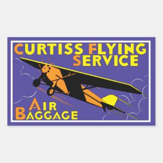 Servicio del vuelo de Curtiss Pegatina Rectangular