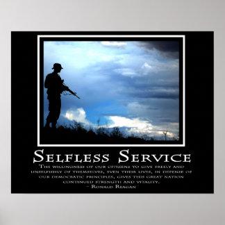 Servicio desinteresado póster