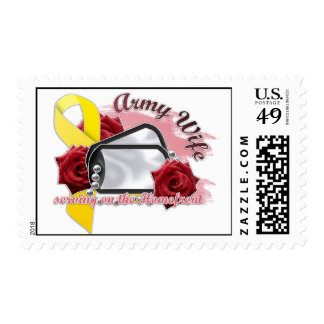servicio en el homefront (esposa del ejército) sellos