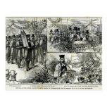 Servicio en la sinagoga judía tarjetas postales