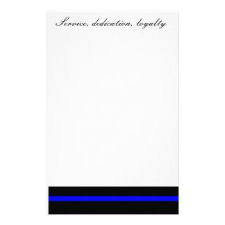 Servicio, esmero, lealtad inmóvil papeleria de diseño