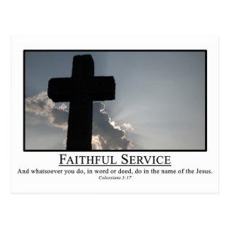 Servicio fielmente en nombre de 3:17 del Col. de J Tarjetas Postales