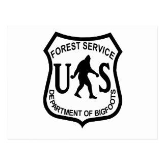 Servicio Forestal de Bigfoot los E.E.U.U. Postales
