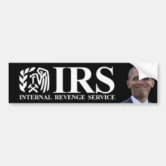 Servicio interno de la venganza del IRS - Obama an Etiqueta De Parachoque