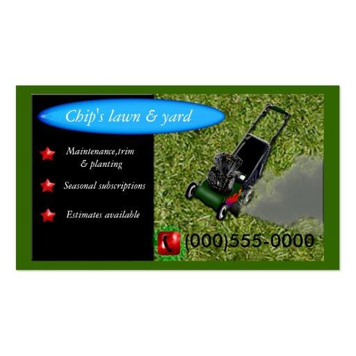 servicio lawnmowing tarjetas de visita