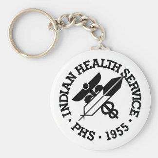 Servicio médico indio llavero redondo tipo pin