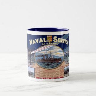 Servicio naval de Canadá Taza De Dos Tonos