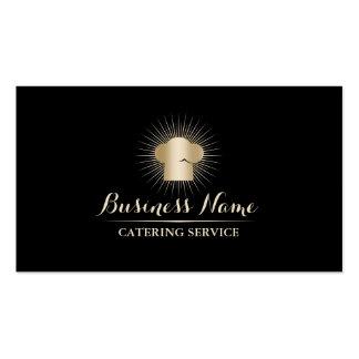 Servicio personal del abastecimiento del cocinero tarjetas de visita