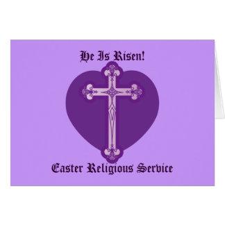 Servicio-Personalizar religioso de Pascua Tarjeta De Felicitación