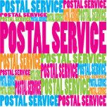 Servicio postal colorido escultura fotográfica