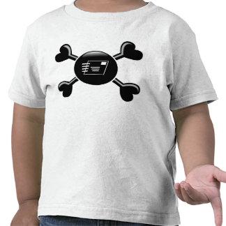 Servicio postal de la bandera pirata camiseta