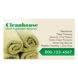 Servicio profesional de la limpieza de la casa tarjetas de visita