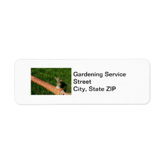 Servicio que cultiva un huerto etiqueta de remite