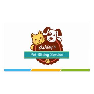 Servicio que se sienta del mascota tarjetas de visita
