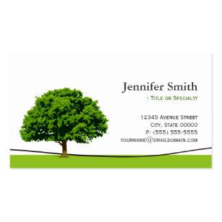 Servicio sabio del cuidado del roble - cita tarjeta de visita