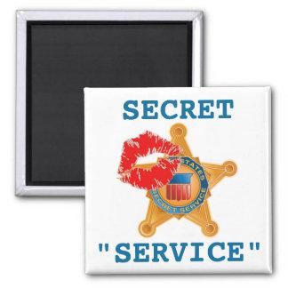 Servicio secreto - escándalo imán cuadrado