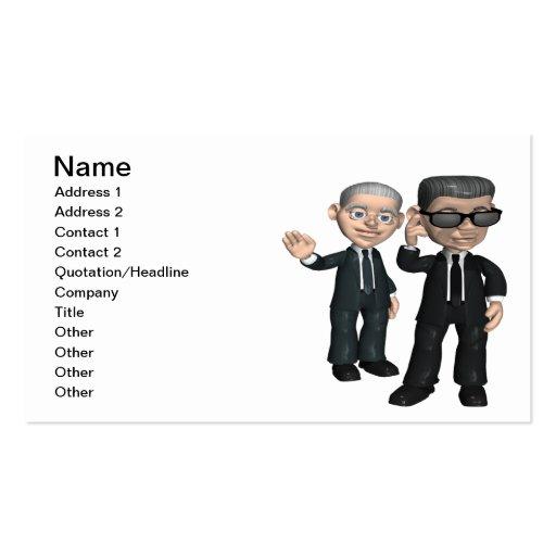 Servicio secreto plantilla de tarjeta de negocio
