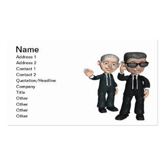 Servicio secreto tarjetas de visita