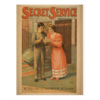 Servicio secreto tarjetas postales