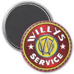 Servicio terrestre del jeep de Willys Imán Redondo 7 Cm