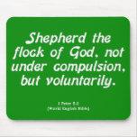 Servicio voluntario 1 Peter 5-2 Alfombrillas De Ratón