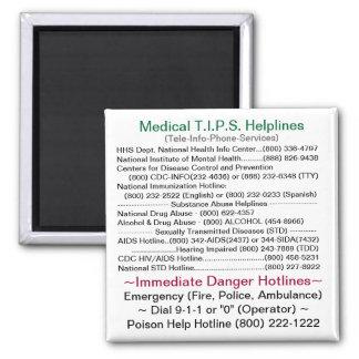 Servicios de ayuda médicos de T.I.P.S. Imán Cuadrado