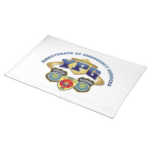 Servicios de emergencia manteles individuales