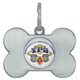 Servicios de emergencia placas mascota